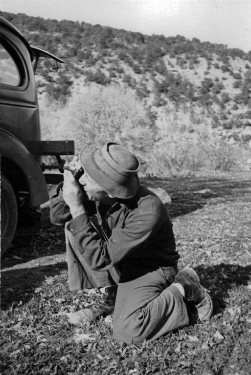 Fred Kent photographing
