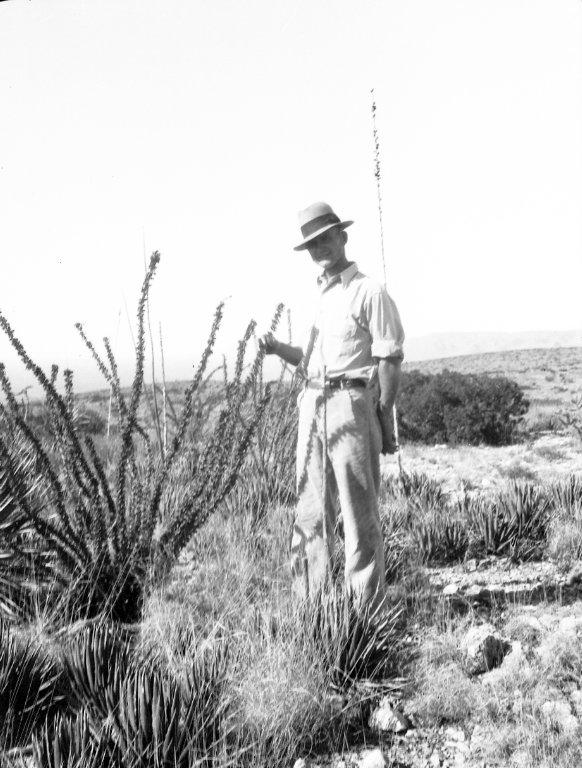 Robert Landberg by desert plants