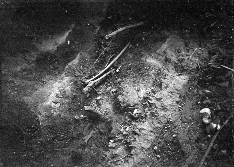 Possible artifacts inside Firebow Cave near Franktown, Colorado.
