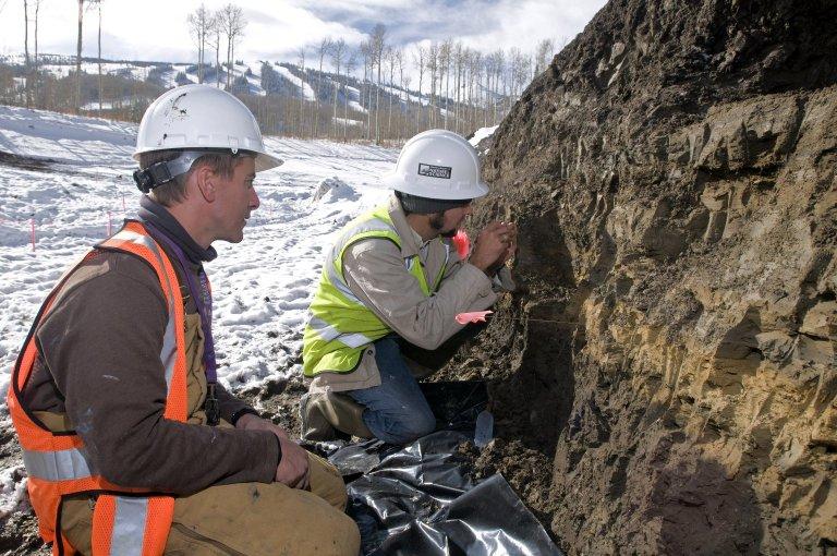 Snowmastadon Excavation Site