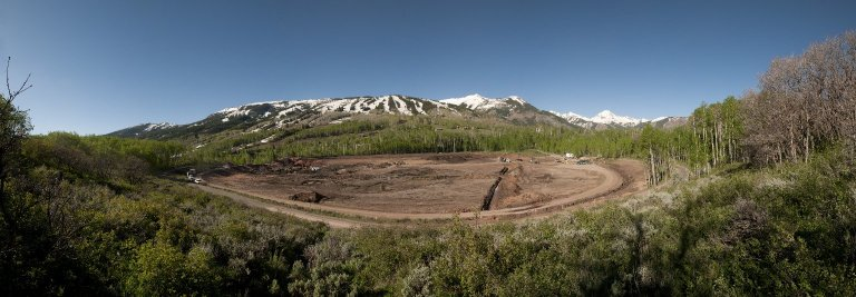 Snowmastodon Excavation Site Panorama