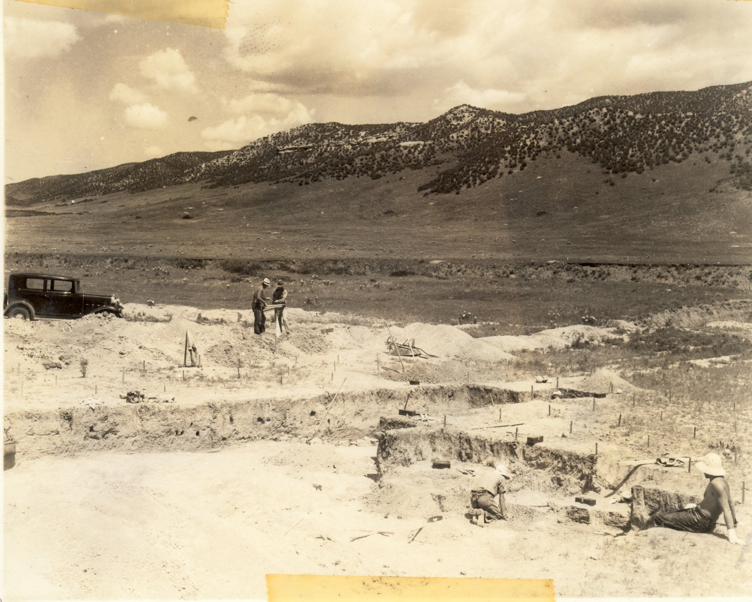Excavation workers at site