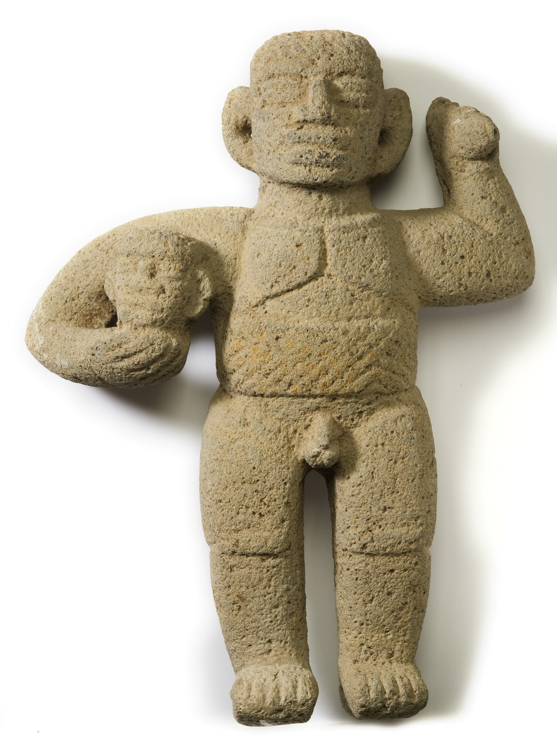 Carved basalt figure