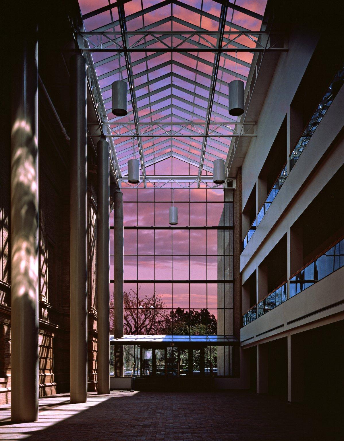 DMNS south atrium at dawn
