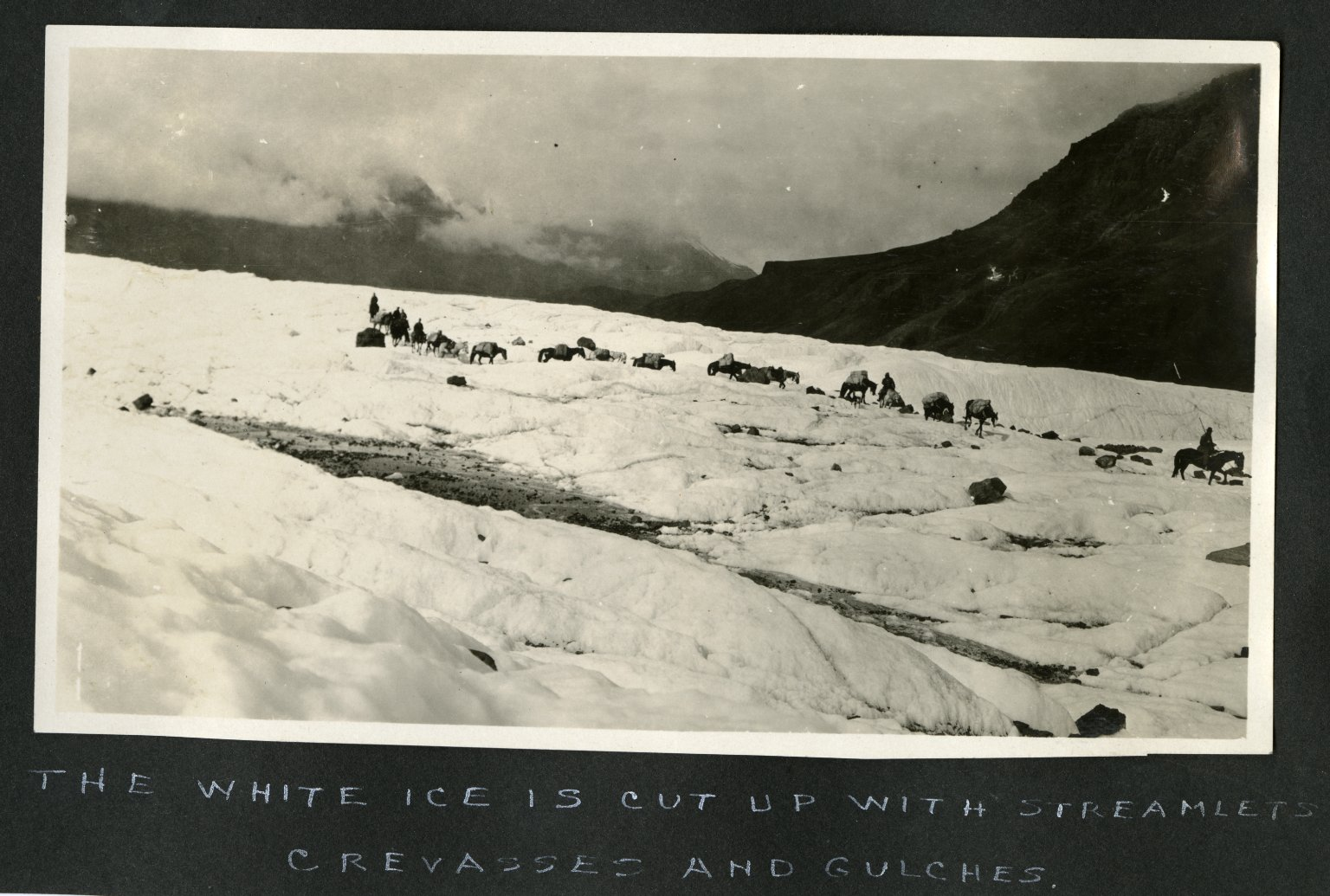 The White Ice is Cut Up With Steamlets, Crevasses, and Gulches.