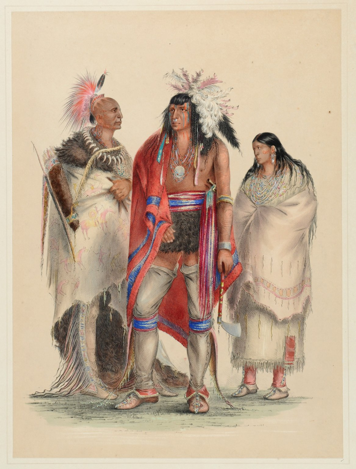 Group of North American Indians, from life.