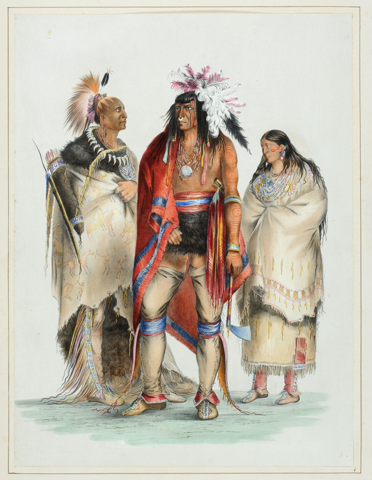 Group of North American Indians from Life.
