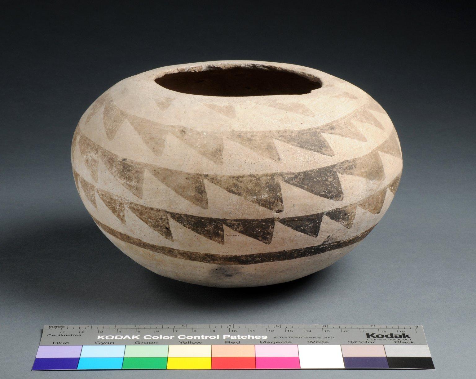 San Juan Ancestral Pueblo Clay Seed Jar