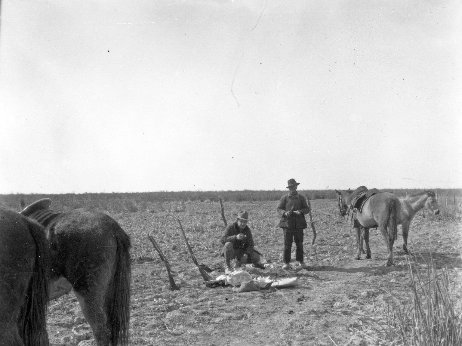 Frederick G. Brandenburg with rhea specimen