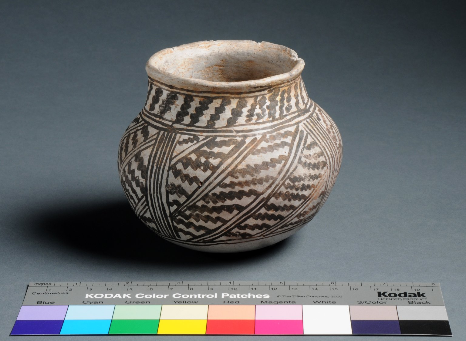 Ancestral Pueblo Clay Necked Jar