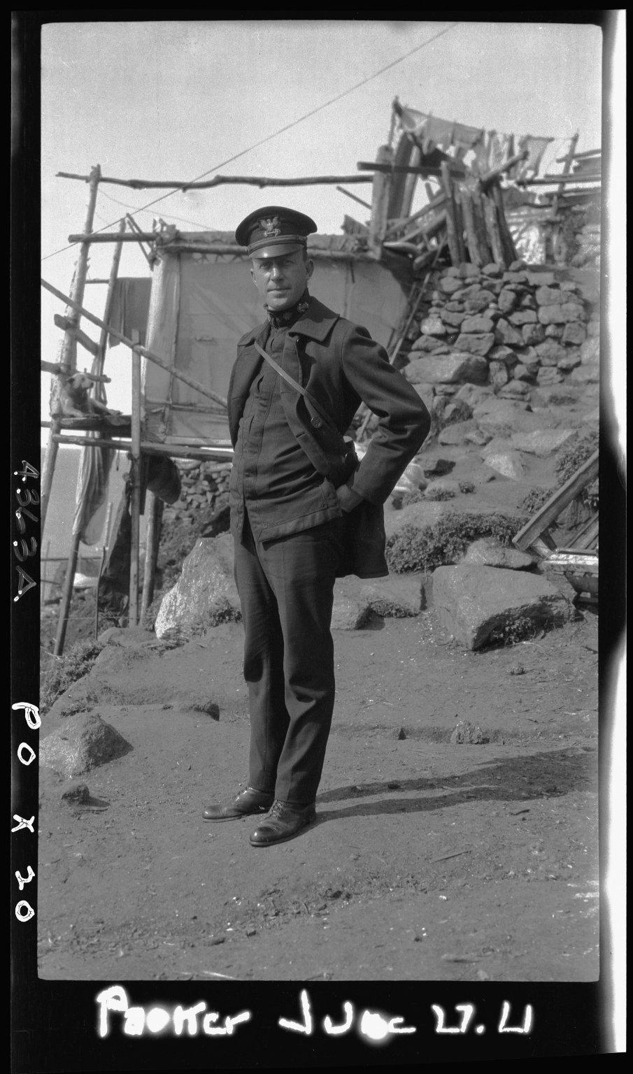Lieutenant Parker of Coast Guard Cutter 'Bear'