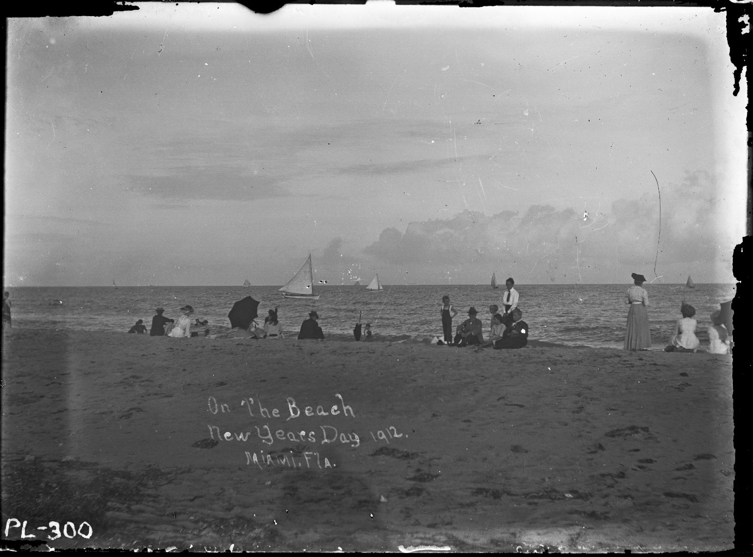 New Year's Day at Beach, 1912