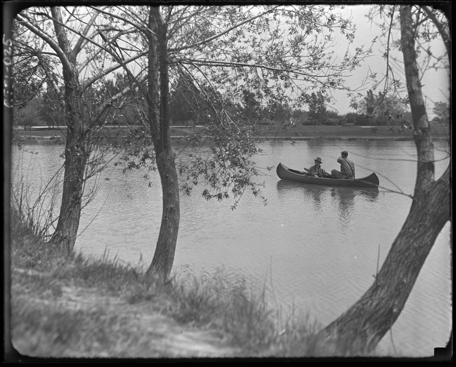 Canoe on Washington Park Lake