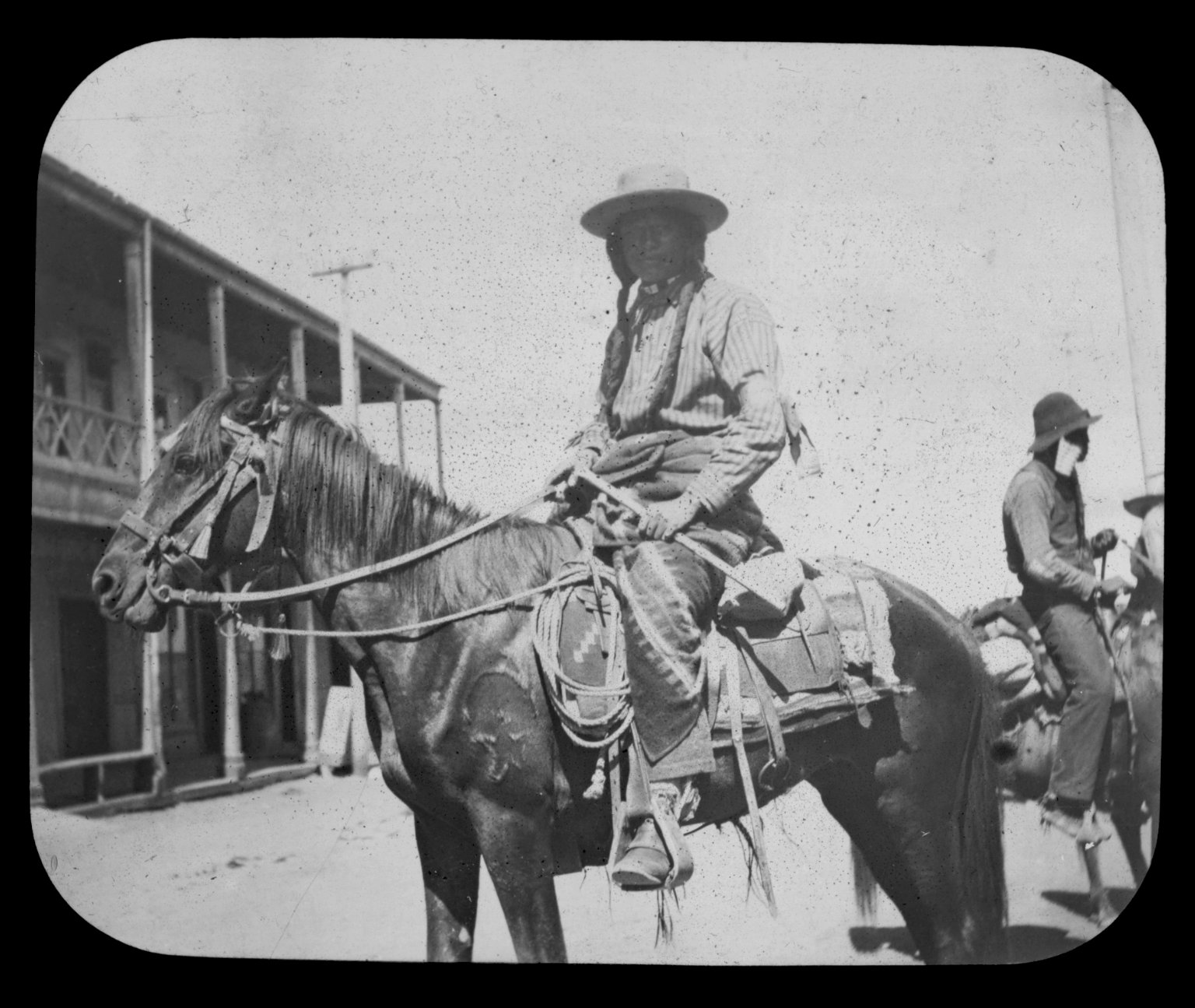 Native American man on horseback