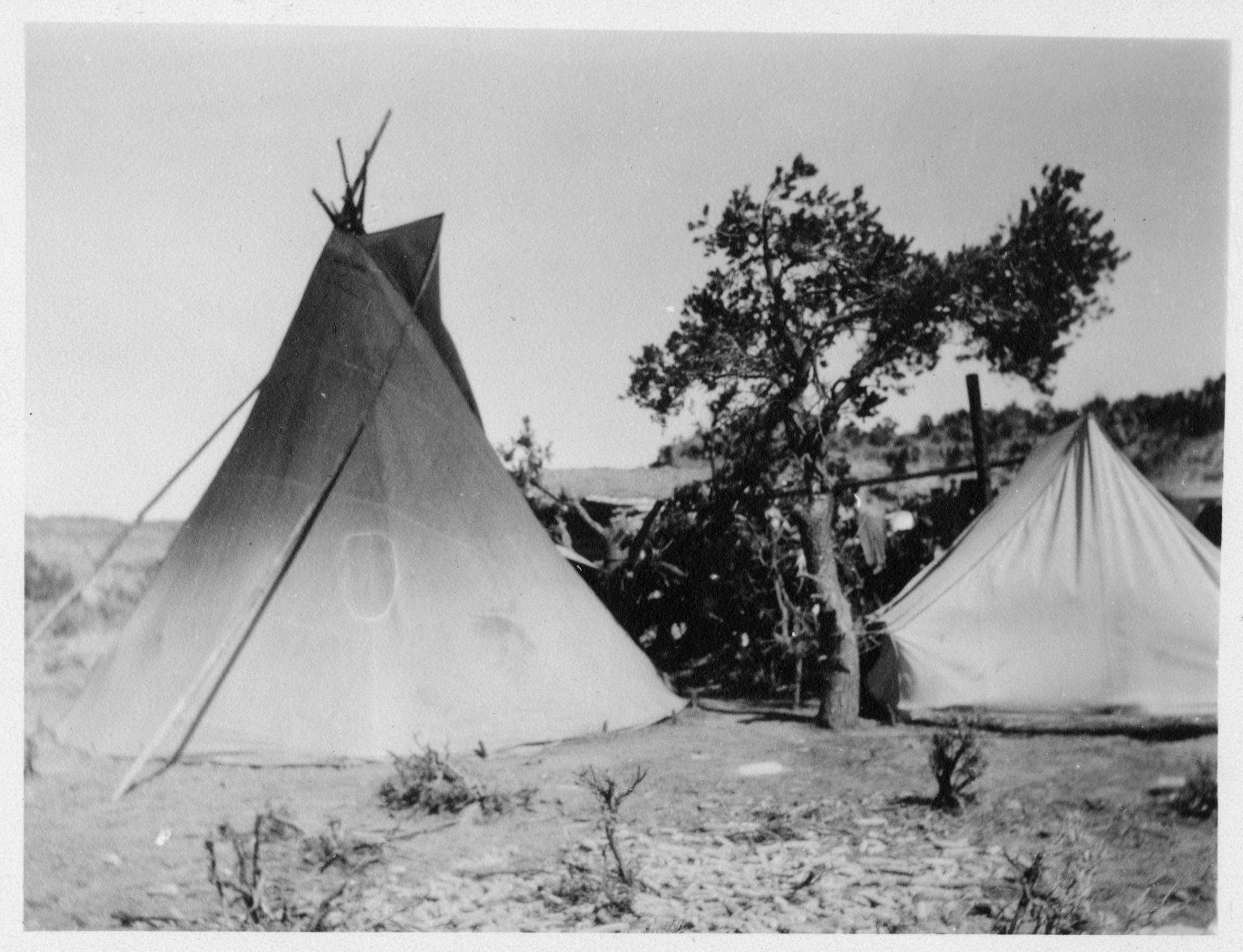 Jicarilla Apache camp