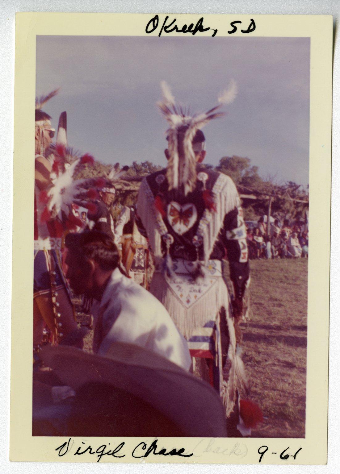 Virgil Chase at Okreek Pow Wow