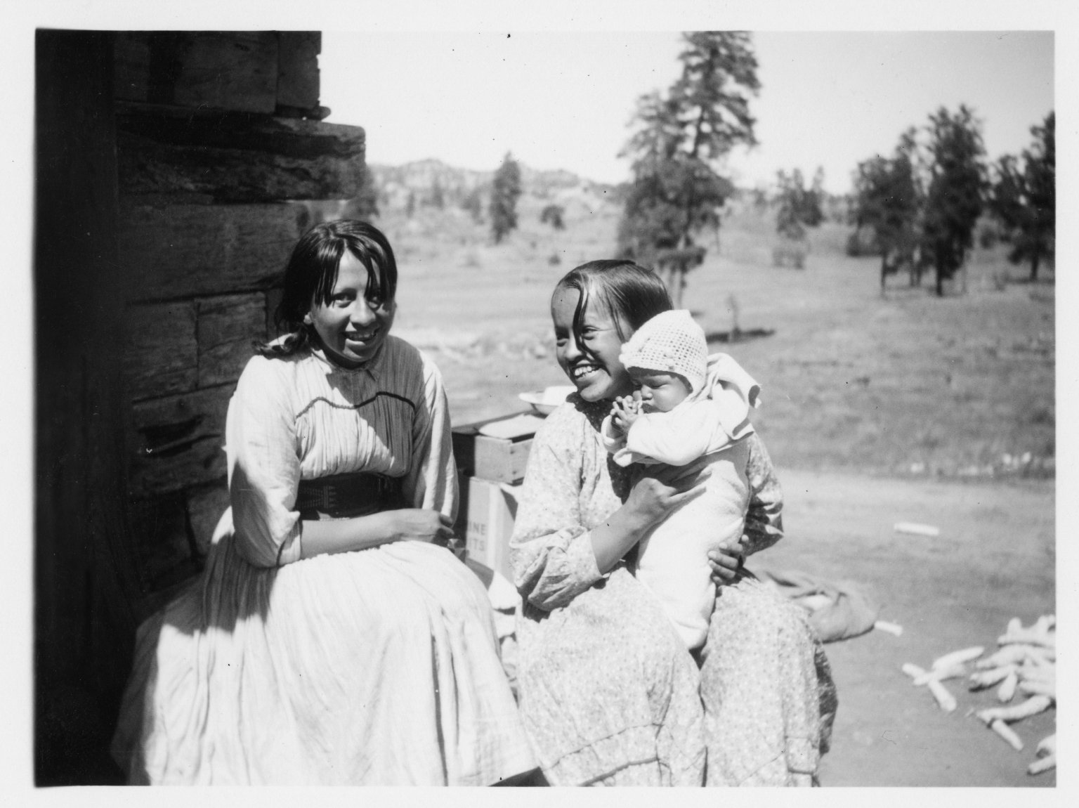 Young ladies with baby.