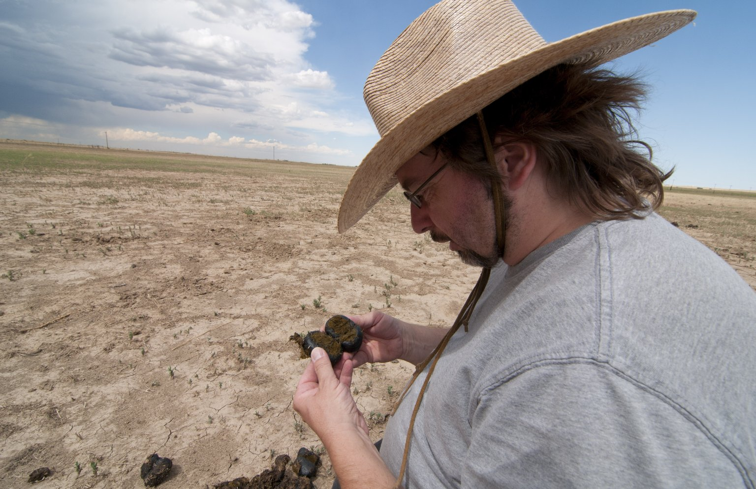 Dr. Frank Krell fieldwork at Bijou Creek