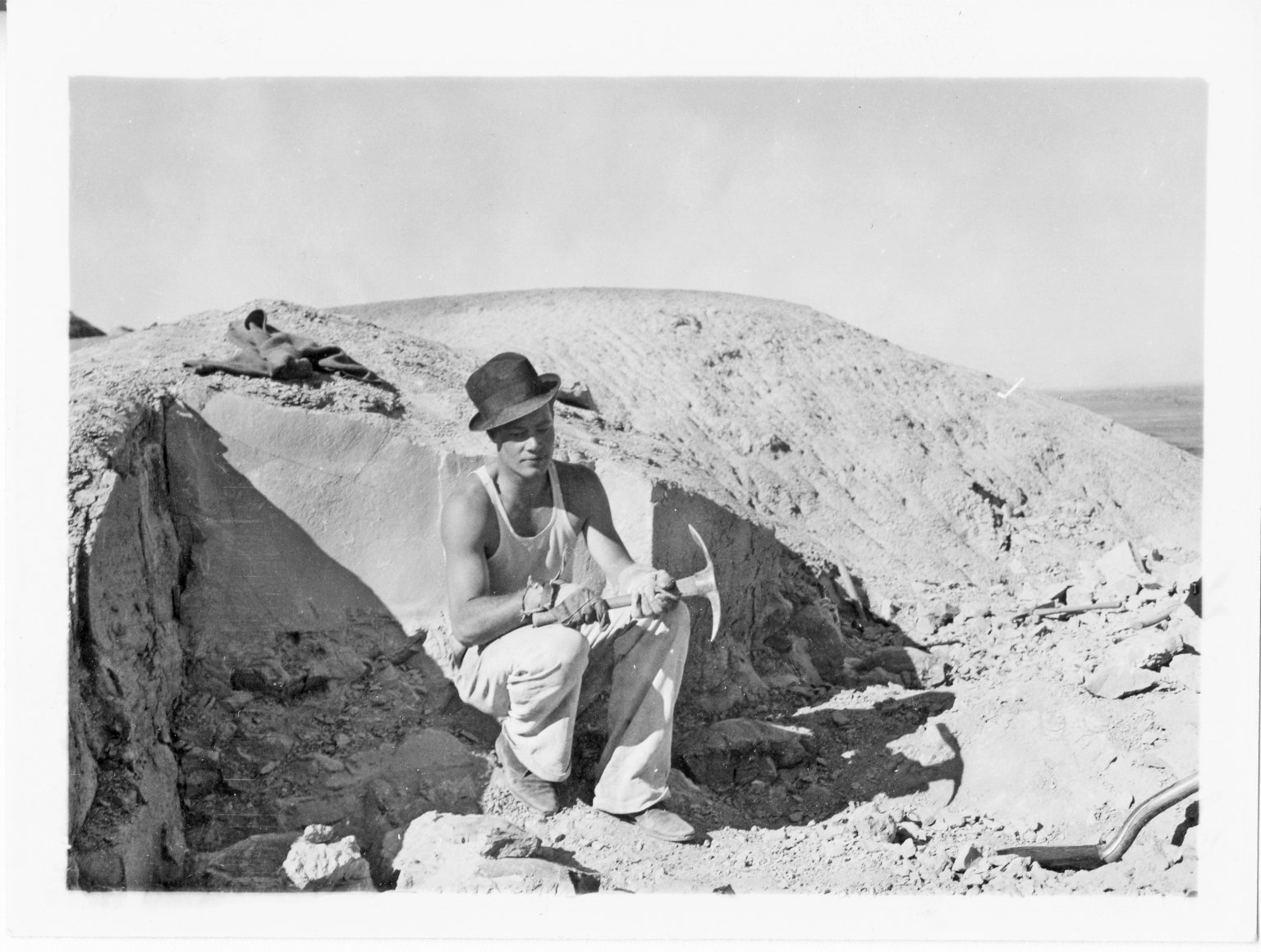 Worker at Horsetail Creek