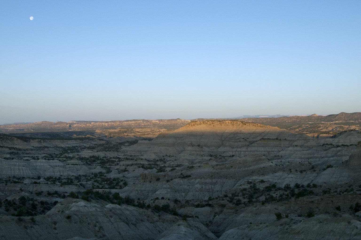 Sunrise on the Kaiparowits Plateau.