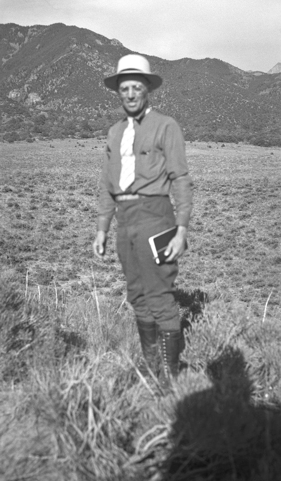 Harvey H. Nininger in the field