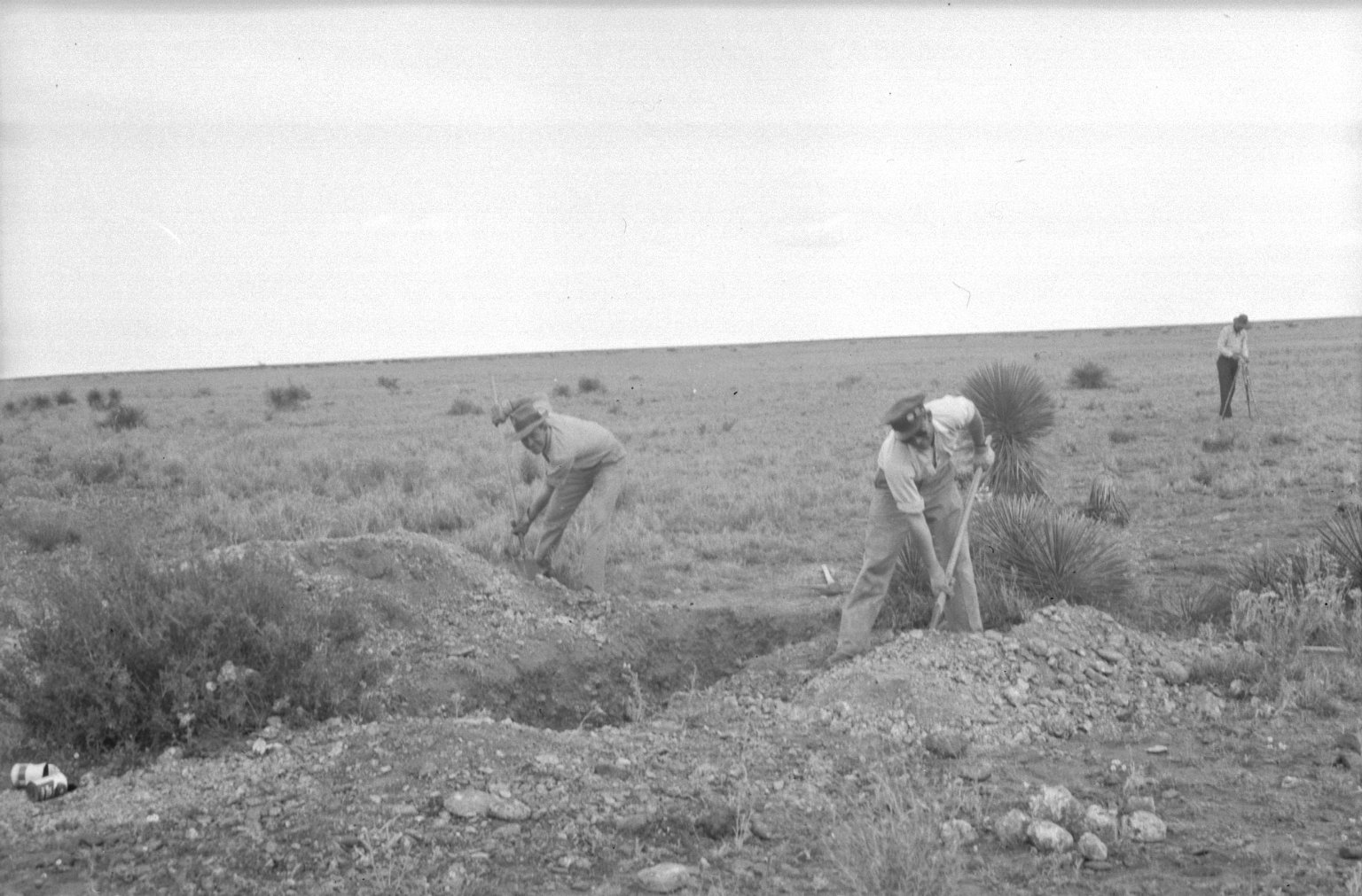 Excavating the crater