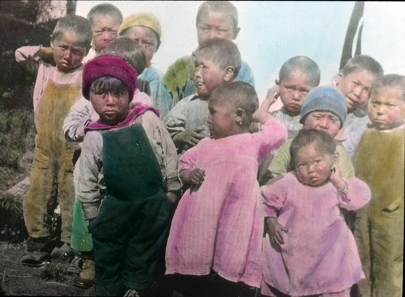 Group of Eskimo or Indian children