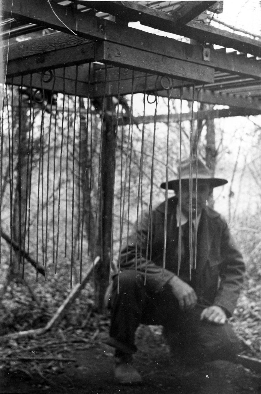 Fred Brandenburg in some sort of enclosure