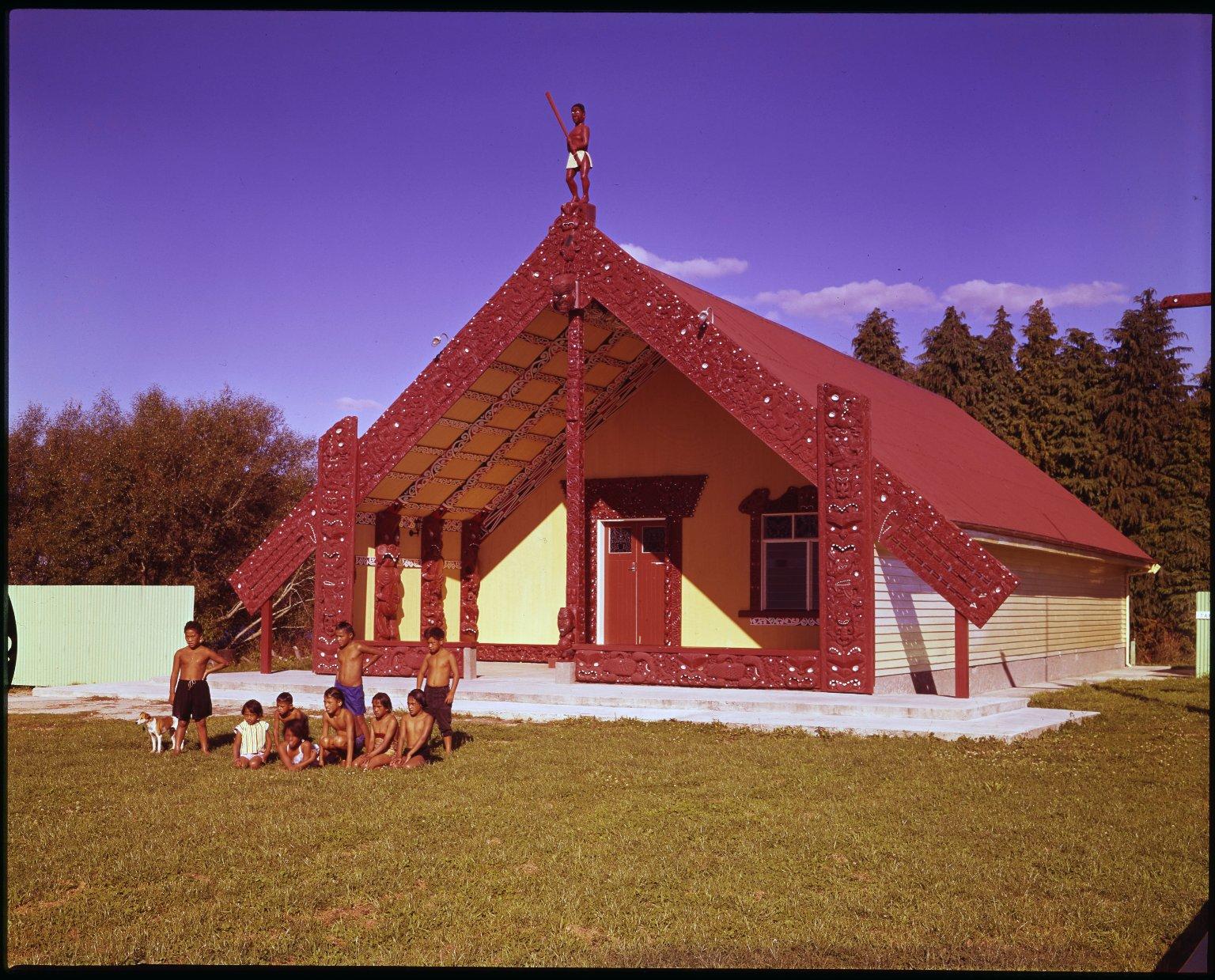 Takinga Maori meeting house at Mourea