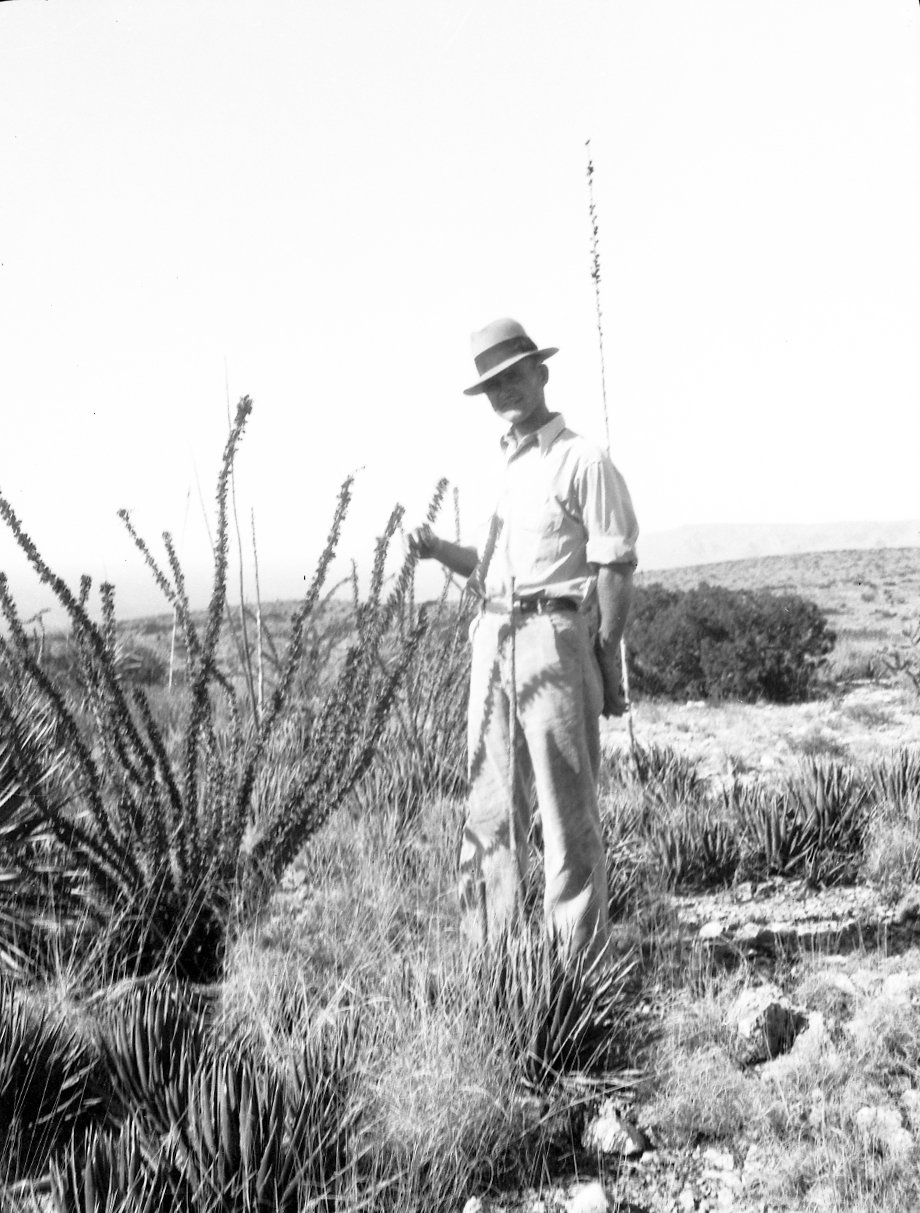 Robert Landberg by desert plants