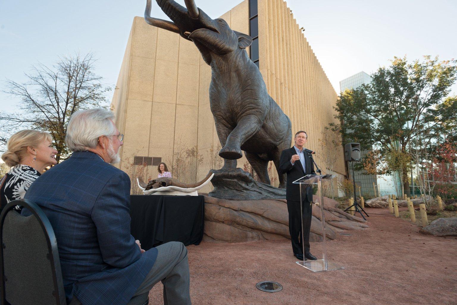 Dedication of Bronze Mastodon Sculpture