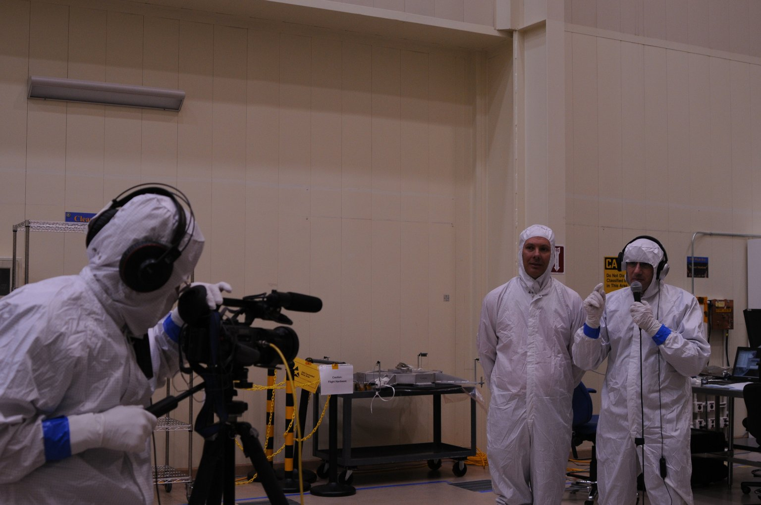 Science in Action with David Grinspoon in Lockheed Martin's clean room