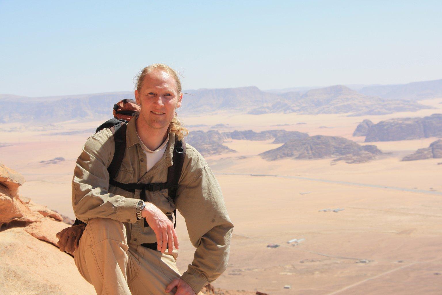 James Hagadorn in Jordan.