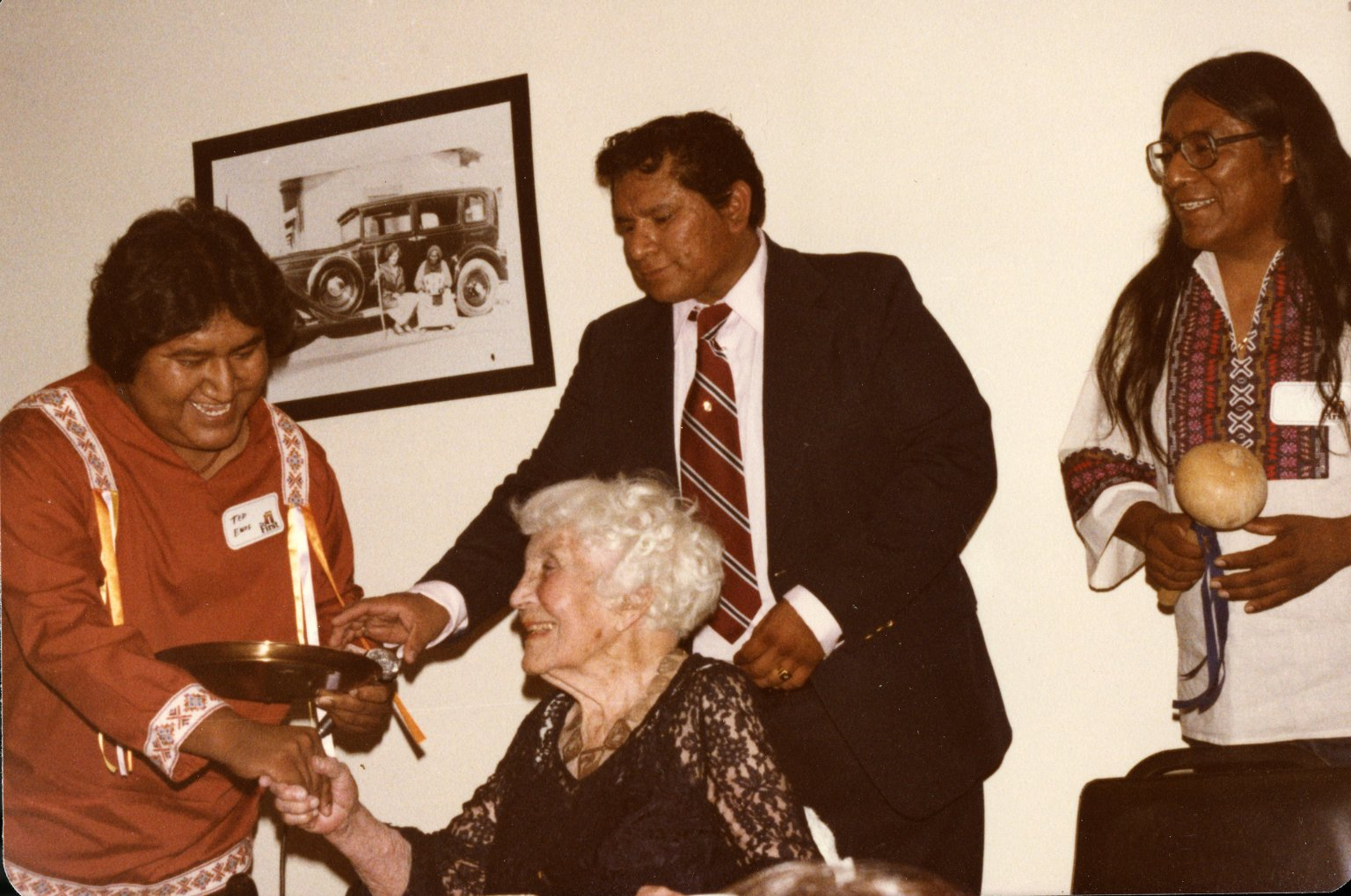 Ruth Underhill at Tohono O'odham Banquest in her Honor
