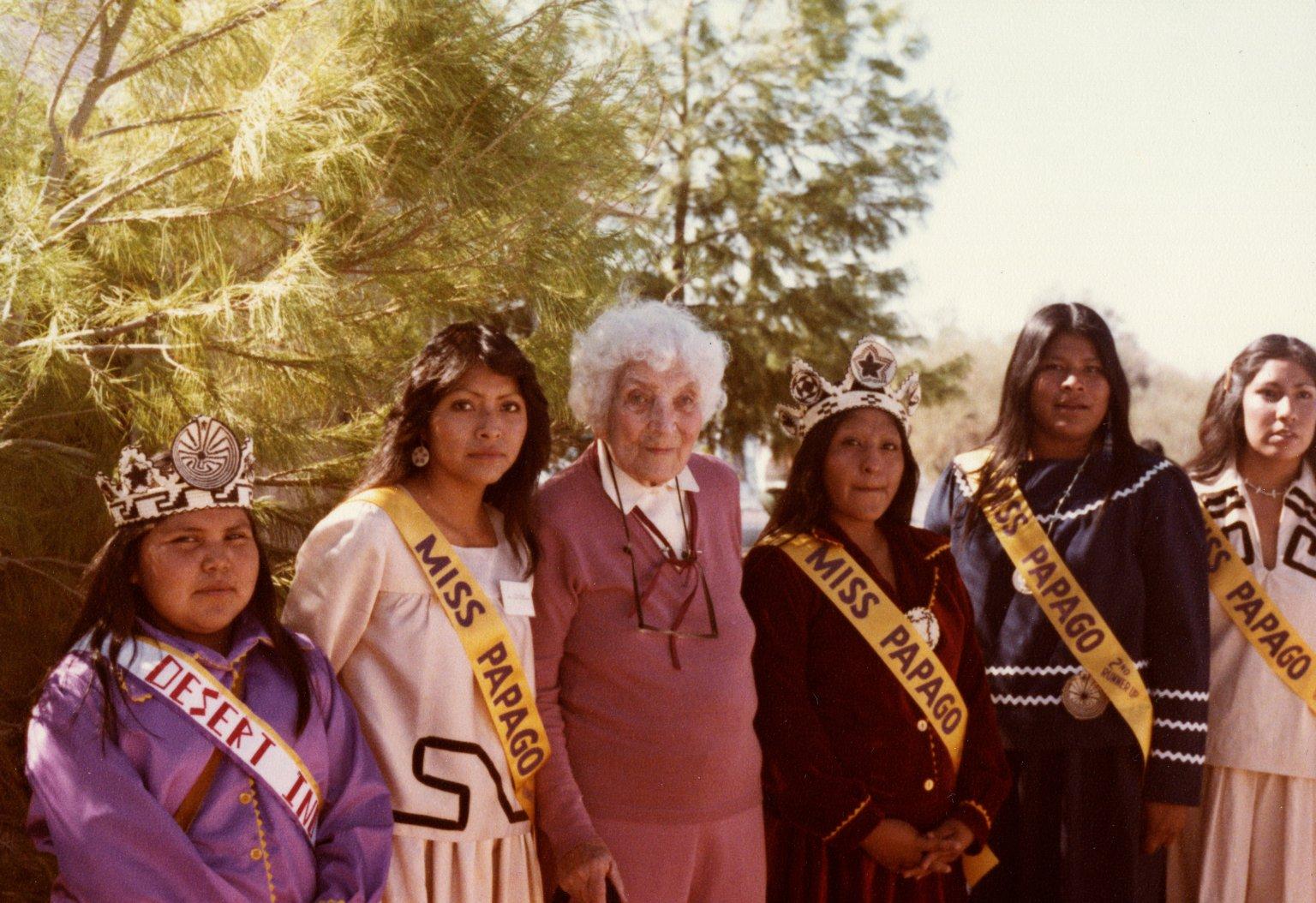 Dr. Ruth Underhill with Tohono O'odham Women