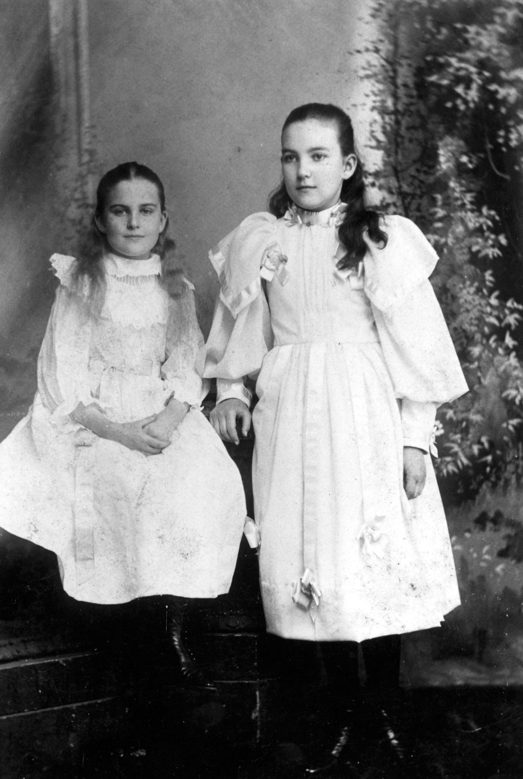 Ruth Underhill and Sister as Children