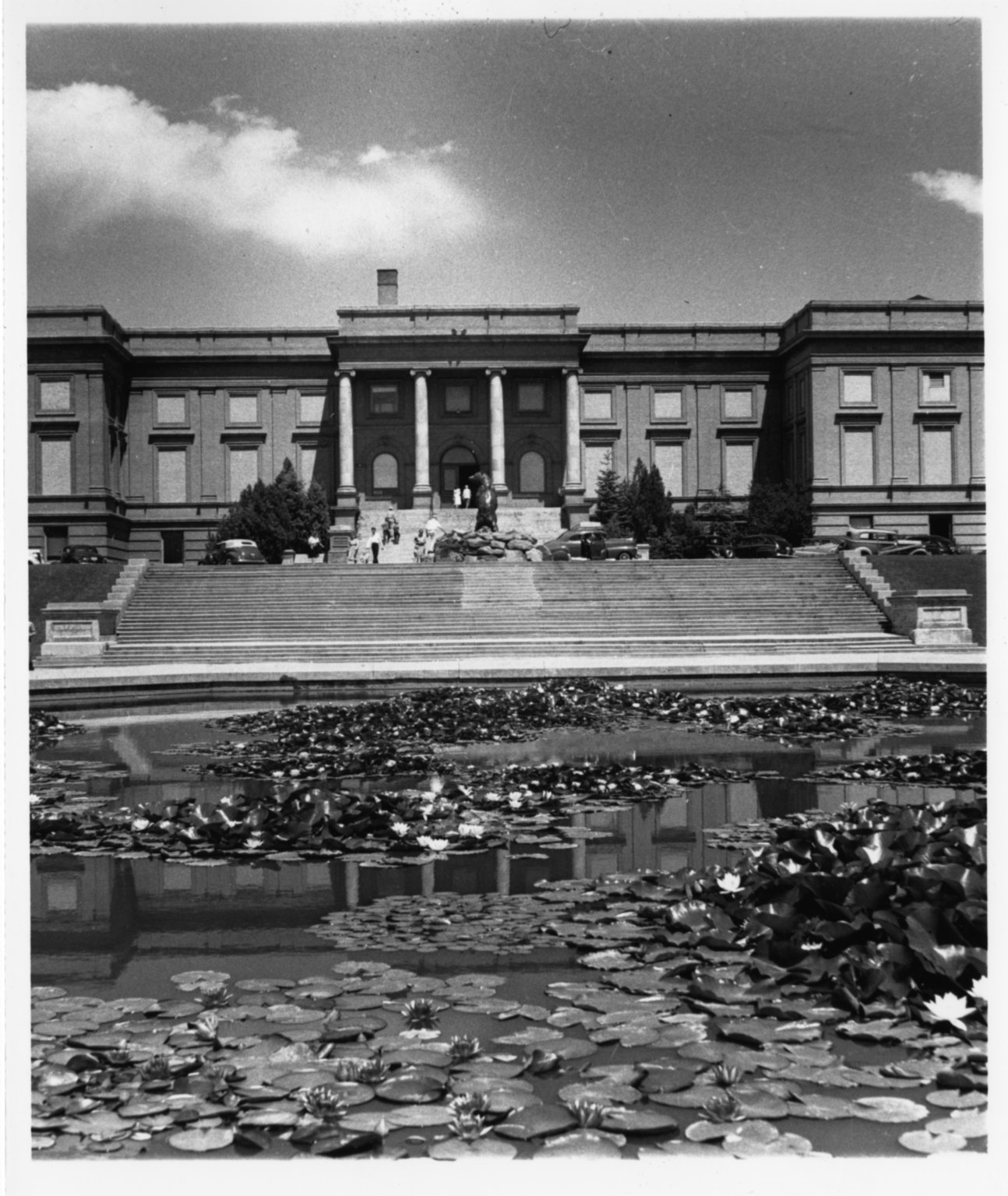 Museum Building and Lily Pond