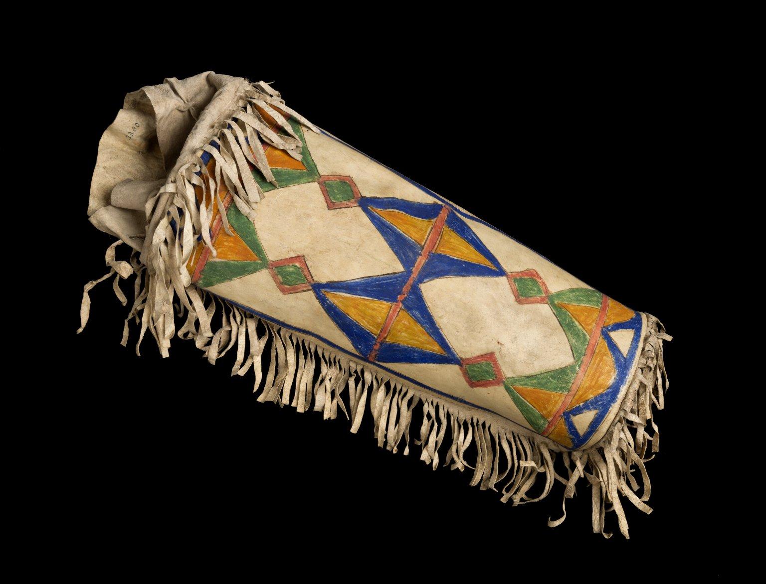 Rawhide War Bonnet Box, Blackfeet Nation