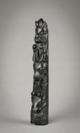 Epenshaw, Northwest Coast Haida Argillite Miniature Totem Pole
