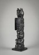 Haida Miniature Totem Pole    from Queen Charlotte Islands, British Columbia, Canada