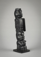 Haida, miniature totem pole, Queen Charlotte Islands, British Columbia, Canada