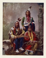 Little Wound, Wife and Son Ogallala (sic)