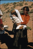 Navajo woman with child