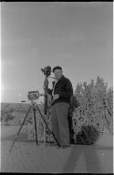 Charles Brazenor with camera equipment