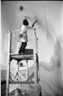 Moose-Caribou diorama preparation and construction