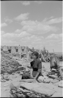 Woman at the Hopi village