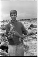 Jack Murphy with Iguana