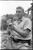 Scott Moore with Iguana