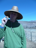 James Hagadorn with gold nugget