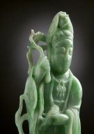 Chinese Apple Green Jade Guanyin
